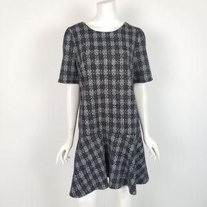 NWT LOFT Plaid Drop Waist Career Dress Large